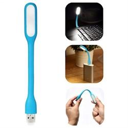 Фонарик LED USB Portable Light Blue (Голубой цвет) - фото 7101