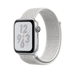 Apple Watch Nike+ Series 4 GPS Silver Aluminum Case with White Sport Loop(Спортивный плетеный ремешок)