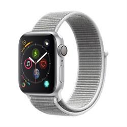 Apple Watch Series 4 GPS Silver Aluminum Case with White Sport Loop(Спортивный плетеный ремешок)