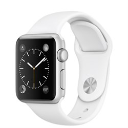 Apple Watch  Series 1 38mm Silver Aluminum Case with White Sport Band (Белый спортивный ремешок)