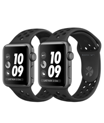 Apple Watch  Series 3 Nike+ 42mm Space Gray Aluminum Case with Anthracite/Black Nike Sport Band