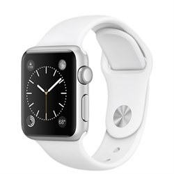 Apple Watch  Series 1 42mm Silver Aluminum Case with White Sport Band (Белый спортивный ремешок)
