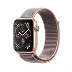 Apple Watch Series 4 GPS Gold Aluminum Case with Pink Sand Sport Loop (Спортивный браслет цвета «розовый песок»)