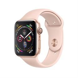Apple Watch Series 4 GPS Gold Aluminum Case with Pink Sand Sport Band (Спортивный ремешок цвета «розовый песок»)