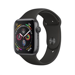 Apple Watch Series 4 GPS Space Gray Aluminum Case with Black Sport Band (Спортивный ремешок черного цвета)