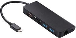 Адаптер 8 in 1 Multifunction Type-C to Lan HDMI USB Hub SD Card Adapter