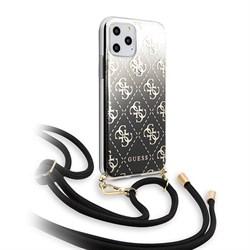 Чехол Guess 4G Cord collection Hard Gradient для iPhone 11 Pro, со шнурком, черный - фото 15553