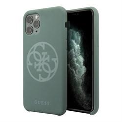 Чехол Guess Silicone collection 4G logo для iPhone 11 Pro, зеленый - фото 15572