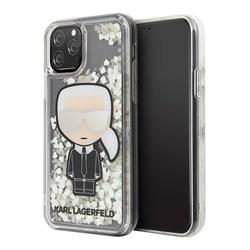 Чехол Karl Lagerfeld Liquid Glitter Iconic Karl Glow in Dark для iPhone 11 Pro - фото 15675
