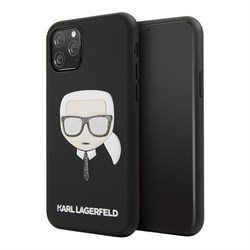 Чехол Karl Lagerfeld PU Leather Iconic Karl Hard Glitter для iPhone 11 Pro - фото 15689