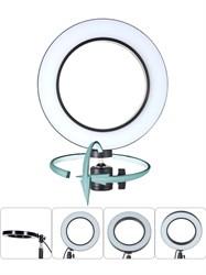 Кольцевая светодиодная лампа со штативом и держателем (30 см)