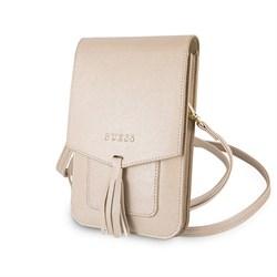 Сумка Guess для смартфонов Wallet Bag Saffiano look Beige