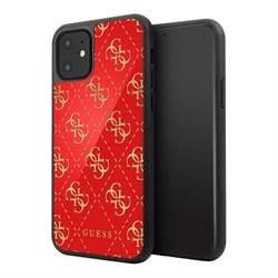 Чехол Guess Double layer 4G Hard Glass для iPhone 11, красный