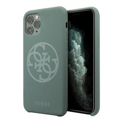 Чехол Guess Silicone collection 4G logo для iPhone 11 Pro, зеленый