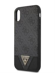 Чехол Guess для iPhone X/XS 4G PU Triangle metal logo Hard Grey