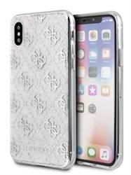 Чехол Guess для iPhone X/XS Glitter Hard Silver