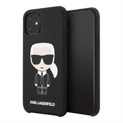 Чехол Karl Lagerfeld Liquid silicone Iconic Karl для iPhone 11