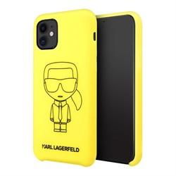 Чехол Karl Lagerfeld Liquid silicone Ikonik outlines Hard для iPhone 11