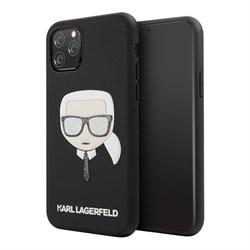 Чехол Karl Lagerfeld PU Leather Iconic Karl Hard Glitter для iPhone 11 Pro