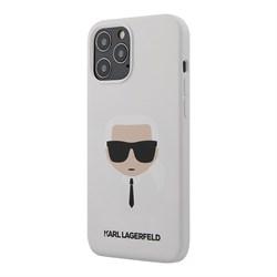 Чехол Karl Lagerfeld Liquid silicone Karl's Head для iPhone 12 Pro Max