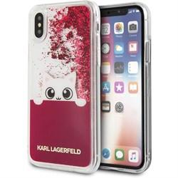 Чехол Lagerfeld для iPhone Xs Liquid Glitter Peek a Boo Hard
