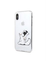 Чехол Karl Lagerfeld Fun Choupette для iPhone X/XS, прозрачный