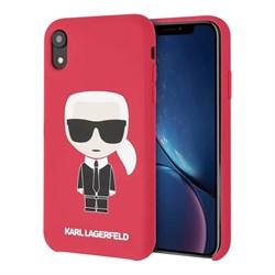 Чехол Karl Lagerfeld Liquid silicone Iconic Karl для iPhone XR