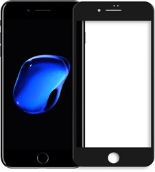 5D ЗАЩИТНОЕ СТЕКЛО ДЛЯ IPHONE 7 Plus (Черное)
